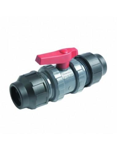 VALVULA PVC CON ENLACE P.E. 40mm
