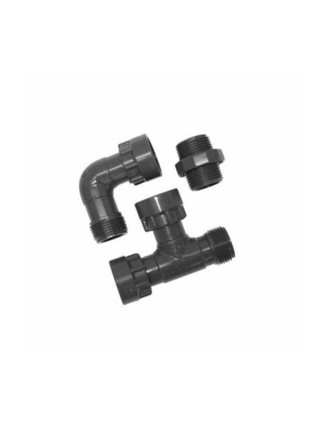 """COLECTOR PVC EN """"T"""".  1""""M-1""""H-1""""H"""