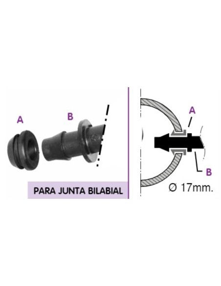 TOMA BILABIAL 16 mm CON ARO